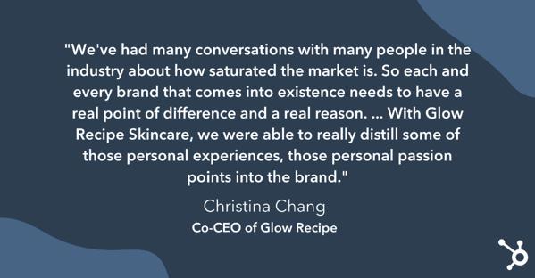 Christina Chang en el saturado mercado de la industria cosmética.