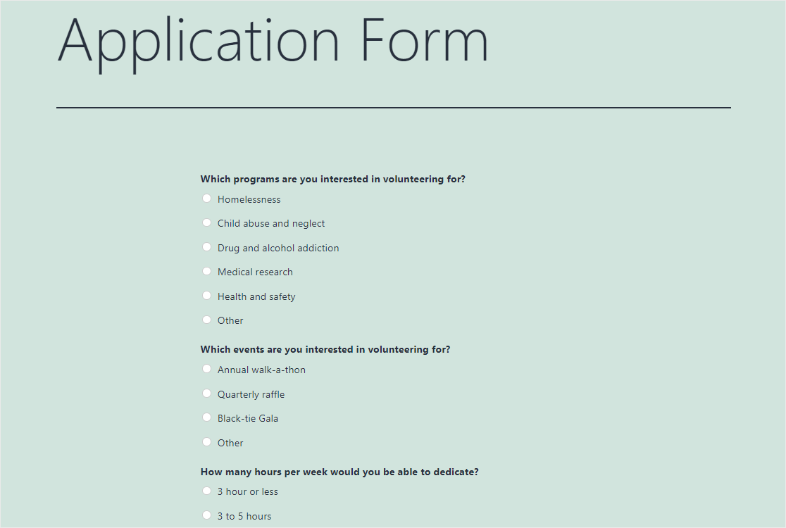 formulario de solicitud en wordpress