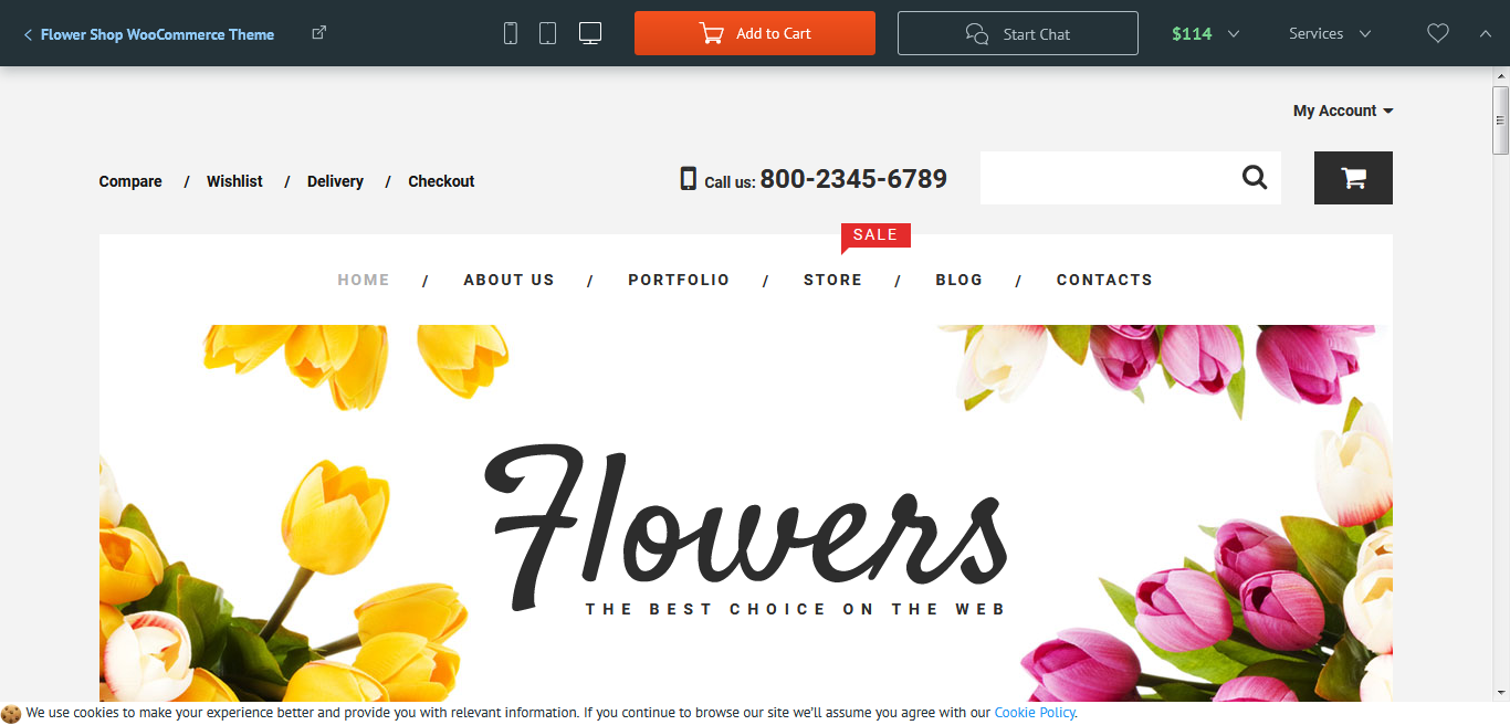 Tema WooCommerce para tienda de flores