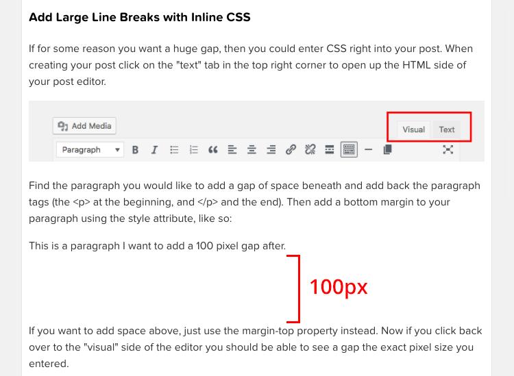 Agregar margen con CSS