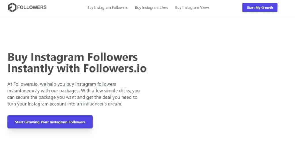 Una captura de pantalla de un sitio Followers.io donde Stormlikes te redirige.