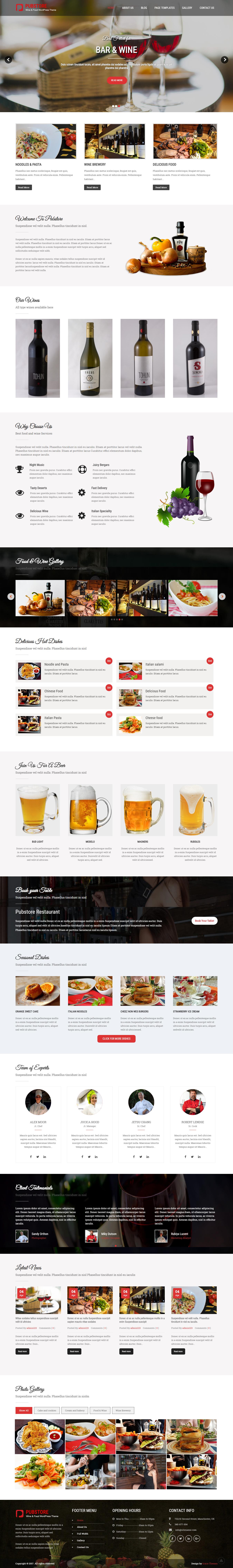 Pub Store: el mejor tema gratuito de WordPress para bares y pubs