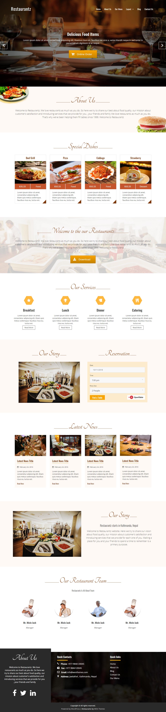 Restaurantz - Mejor tema WordPress gratuito para bares y pubs