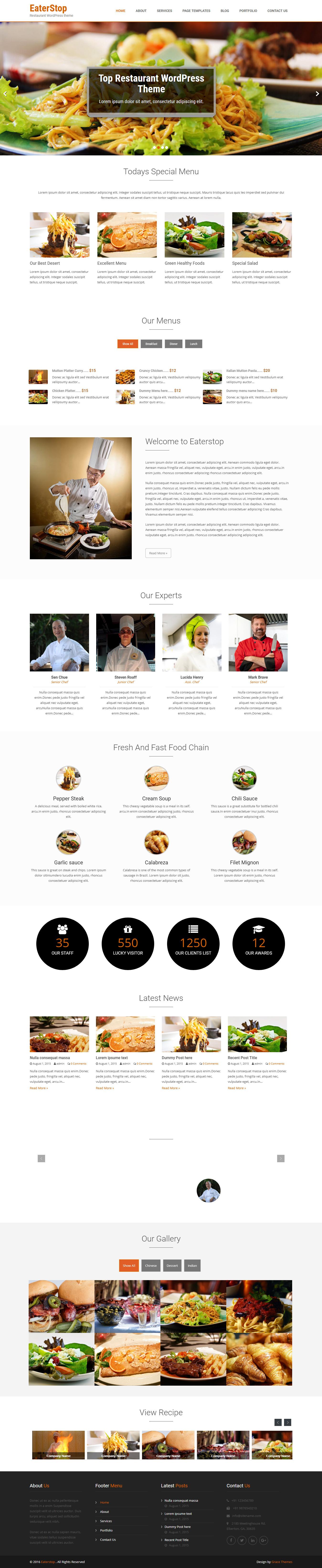 EaterStop Lite - El mejor tema gratuito de WordPress para bares y pubs