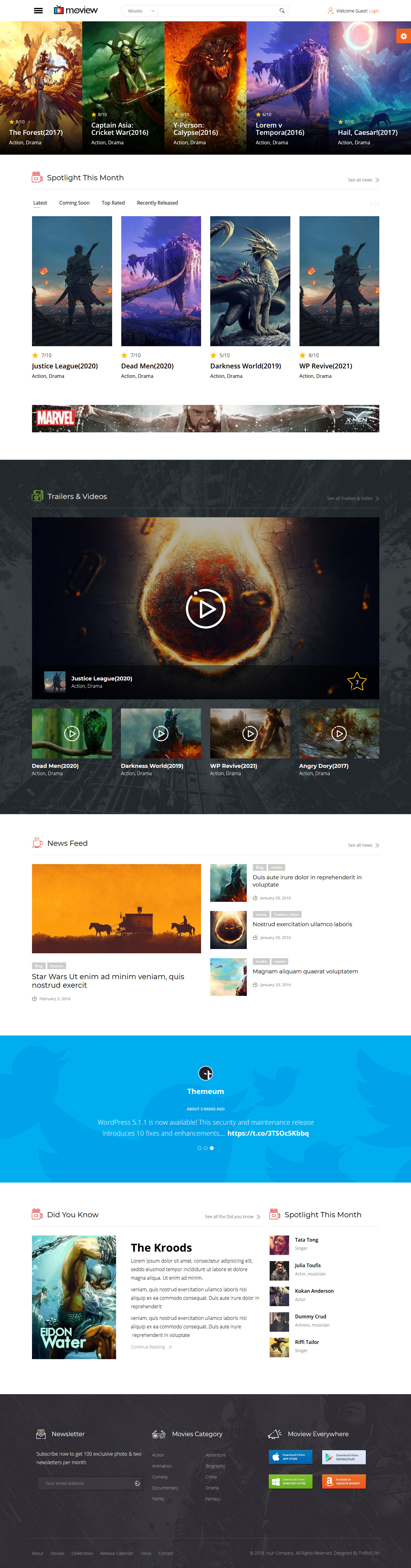 Moview Responsive Film Video DB & Review Theme
