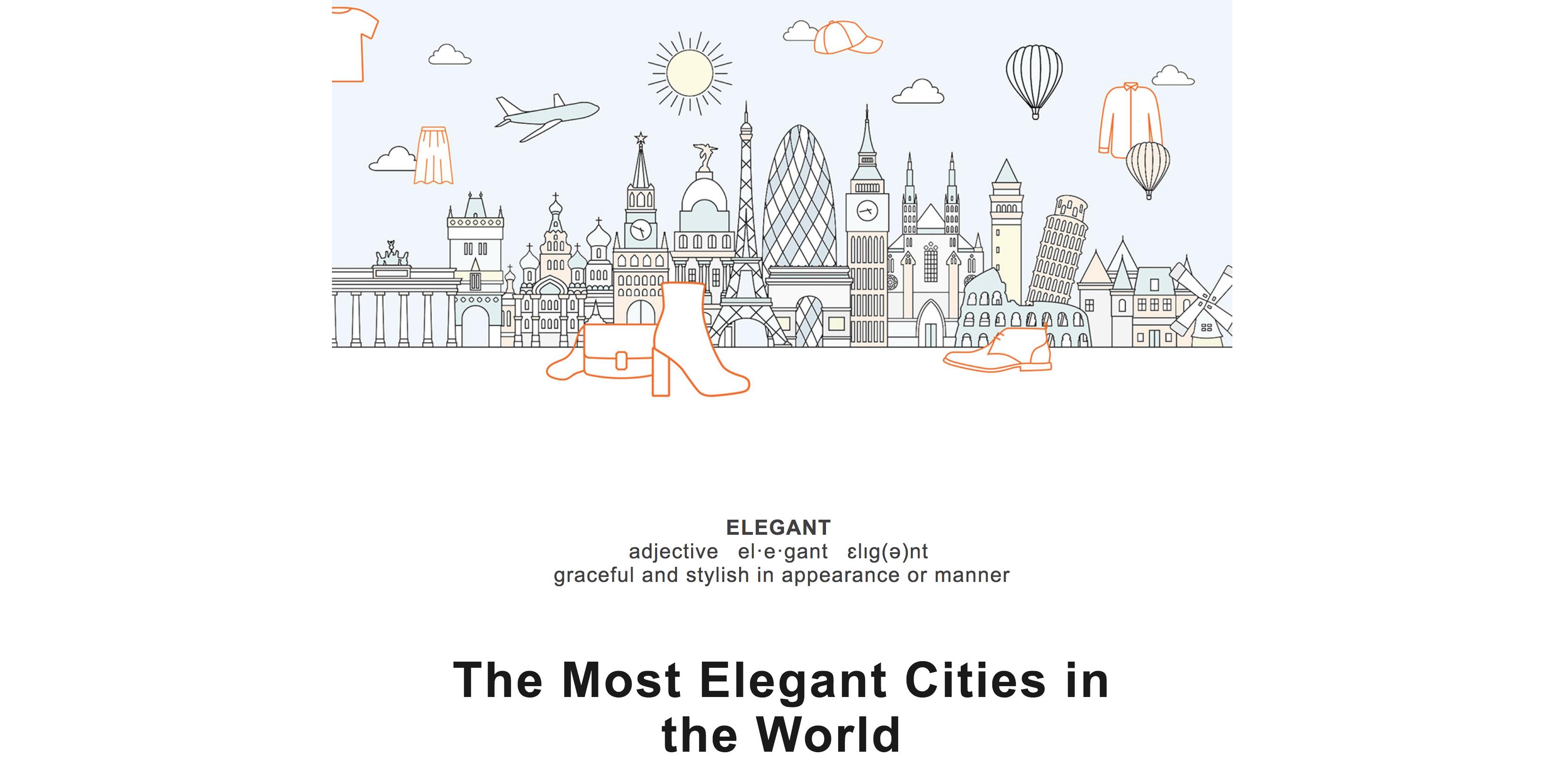 Ejemplo de las ciudades más elegantes de Zalando