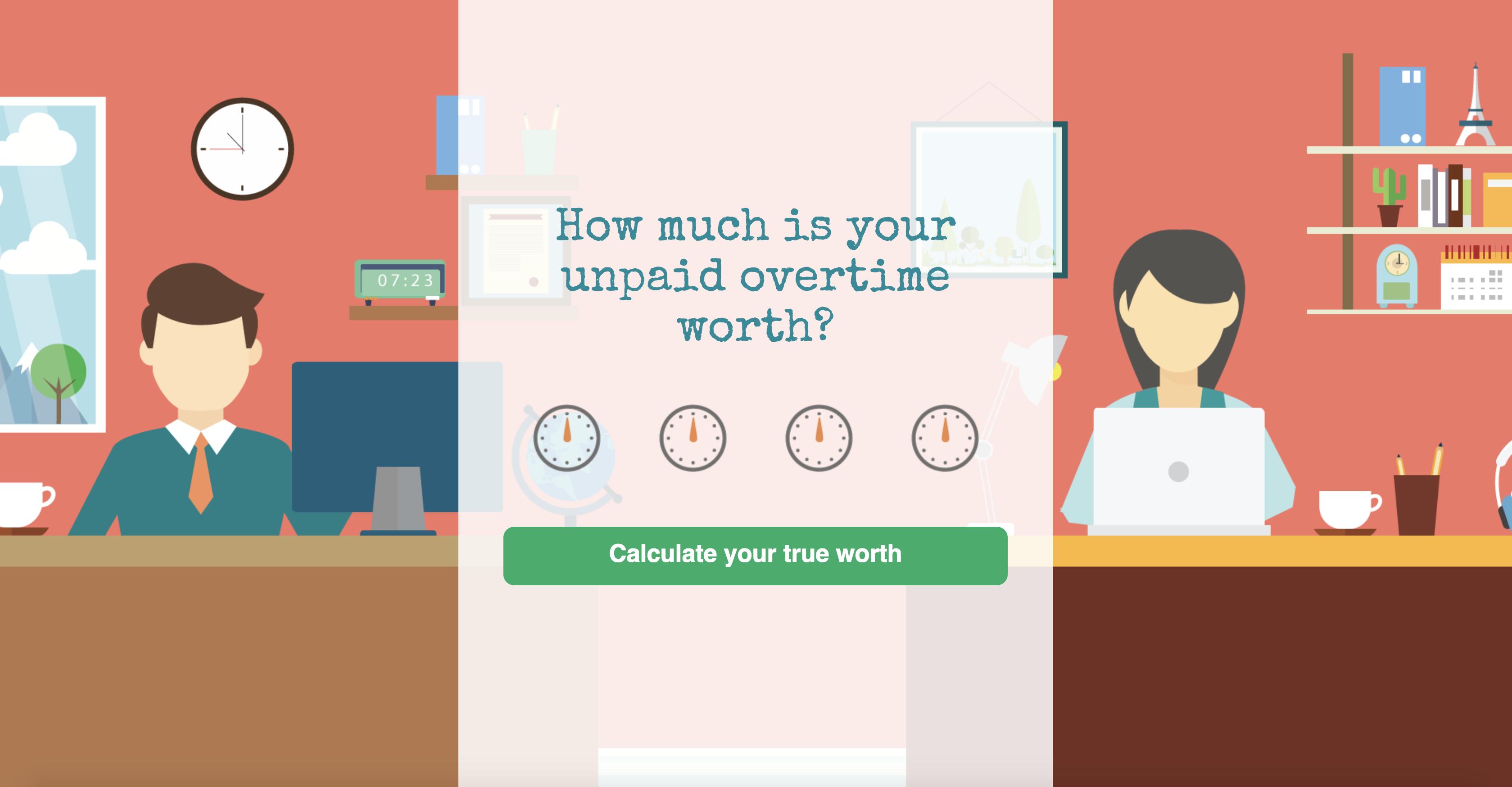 Ejemplo de cómo Totally Money usa calculadoras para atraer al público