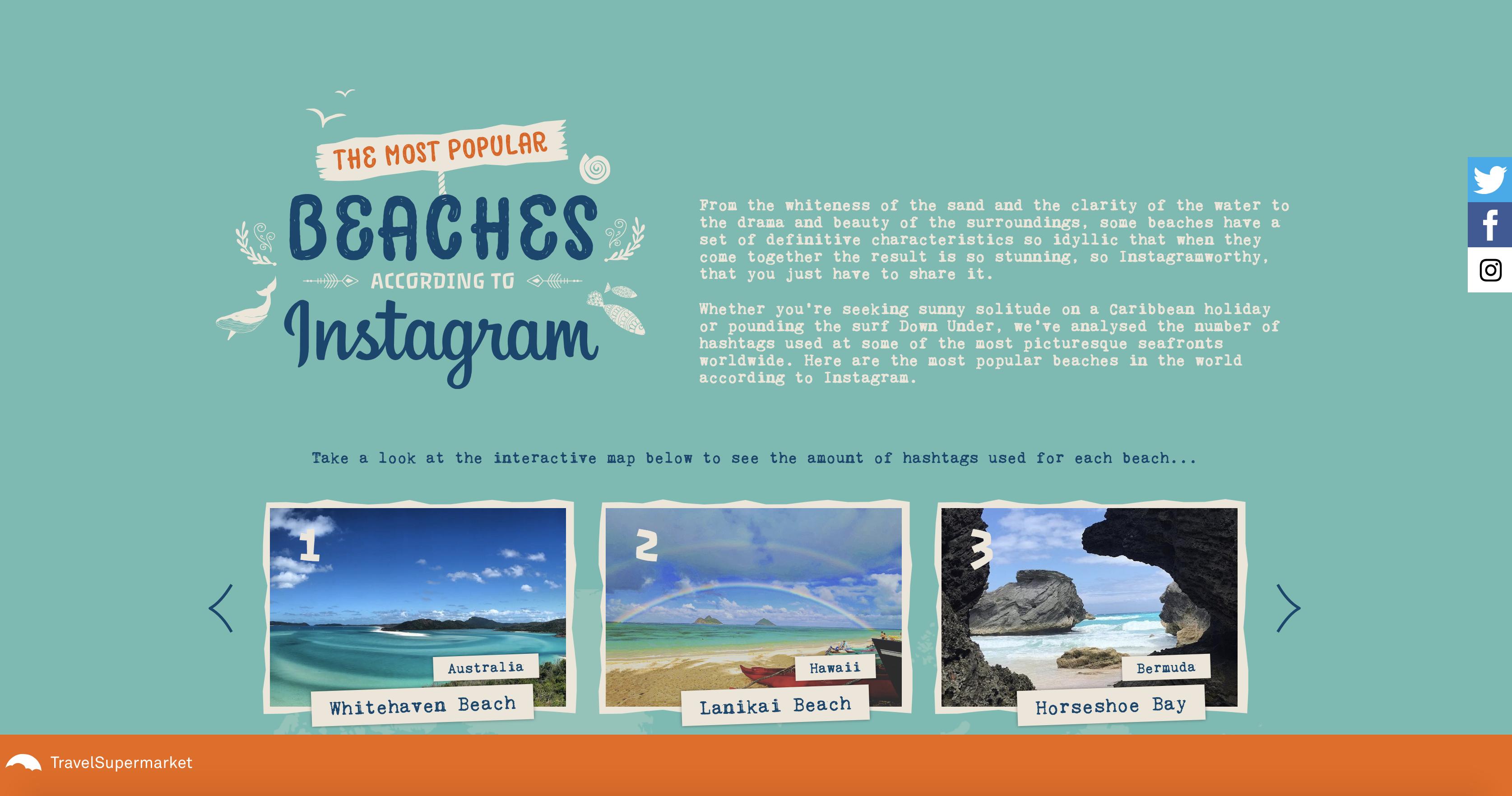 Campaña de las mejores playas del mundo de TravelSupermarket