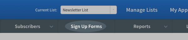 Formularios de registro de AWeber Select