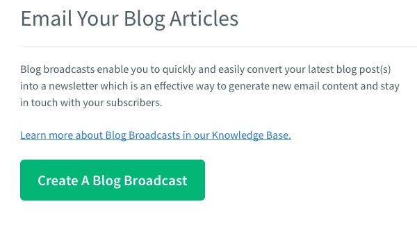 Cree una transmisión de blog con AWeber