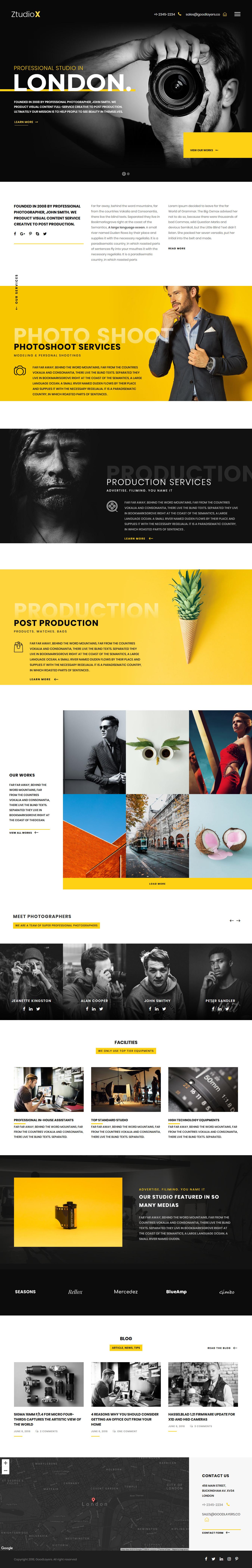 Ztudio X - Mejor tema de WordPress para fotografía de productos premium