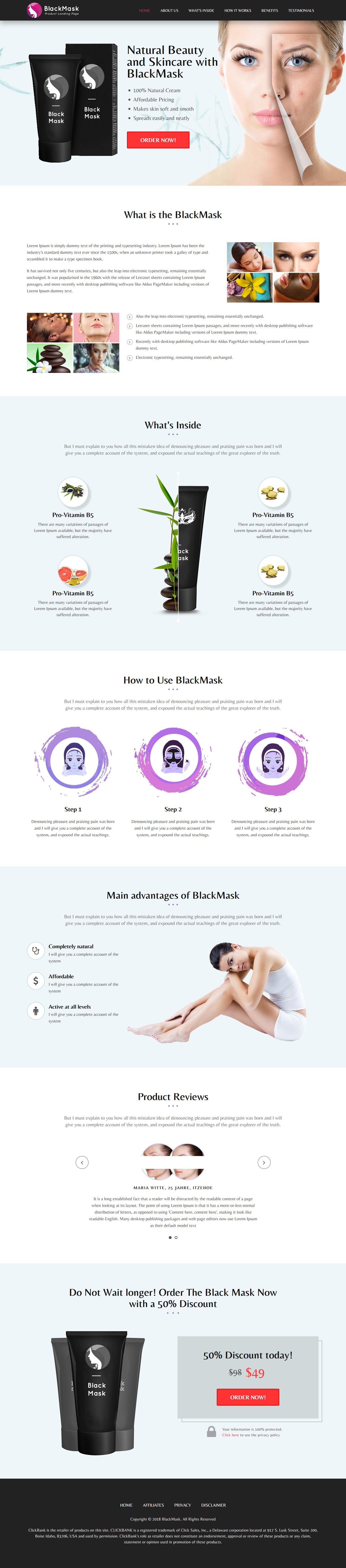 BlackMask - Mejor tema de WordPress para fotografía de productos premium