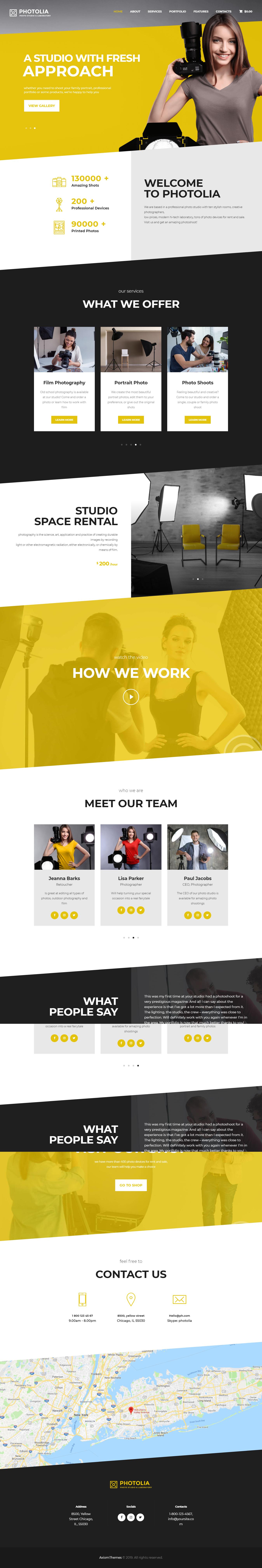 Photolia - Mejor tema de WordPress para fotografía de productos premium