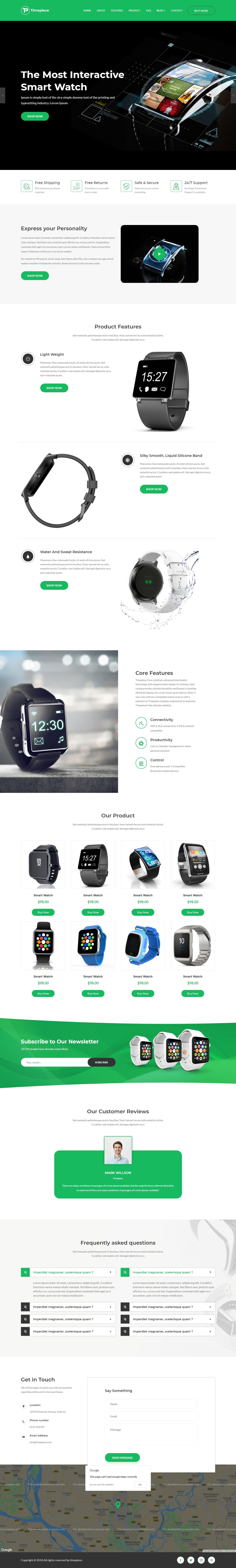 Timepiece - Mejor tema de WordPress para fotografía de productos premium