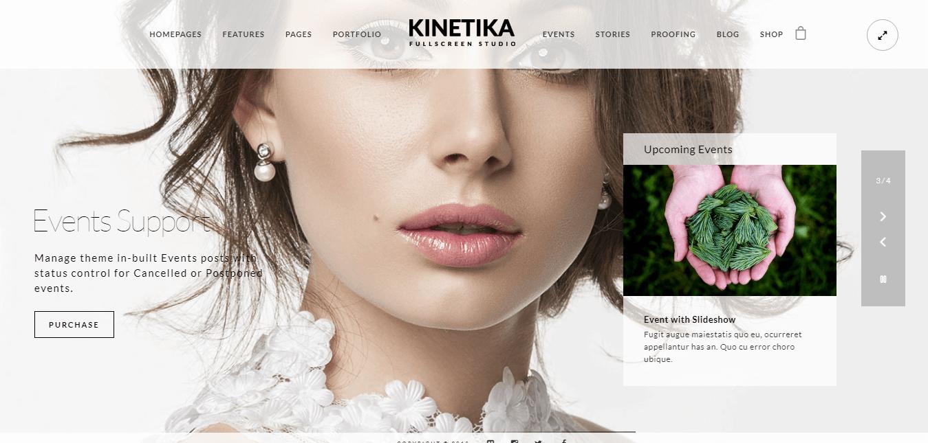 Kinetika - Temas y plantillas de WordPress de fotografía premium