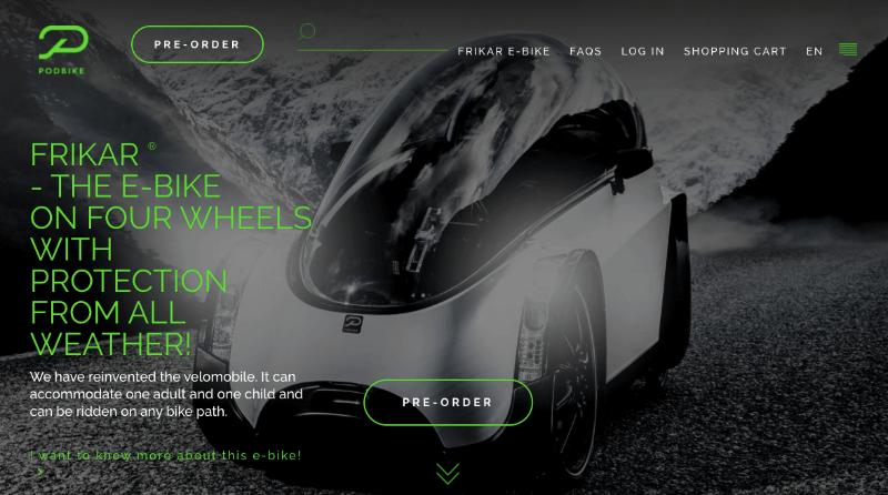 página de inicio de podbike