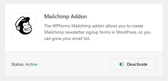 complemento de mailchimp en wpforms