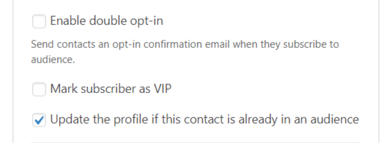 actualizar perfil wpforms complemento de mailchimp