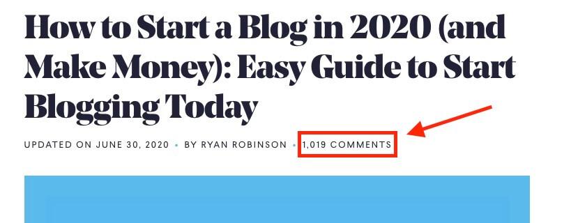 1,000 Comentarios de Blog Captura de pantalla ryrob