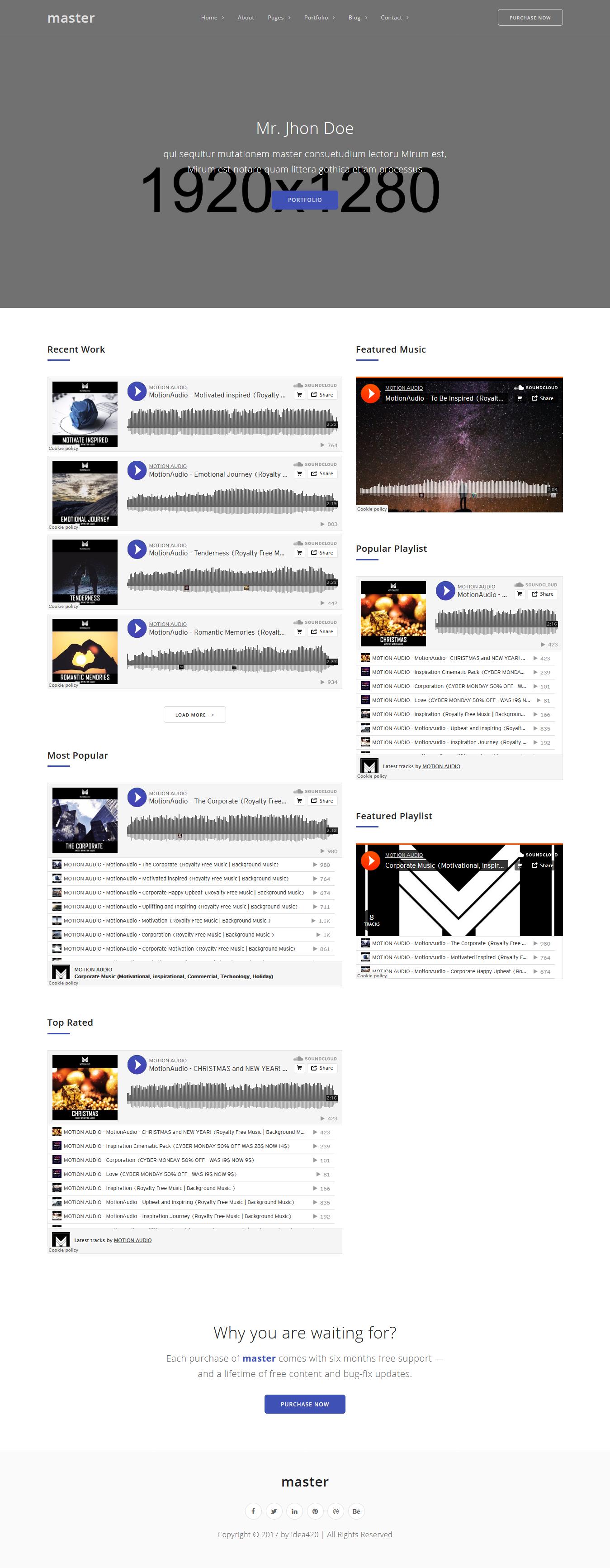 Master - Mejor tema premium de WordPress para video y música