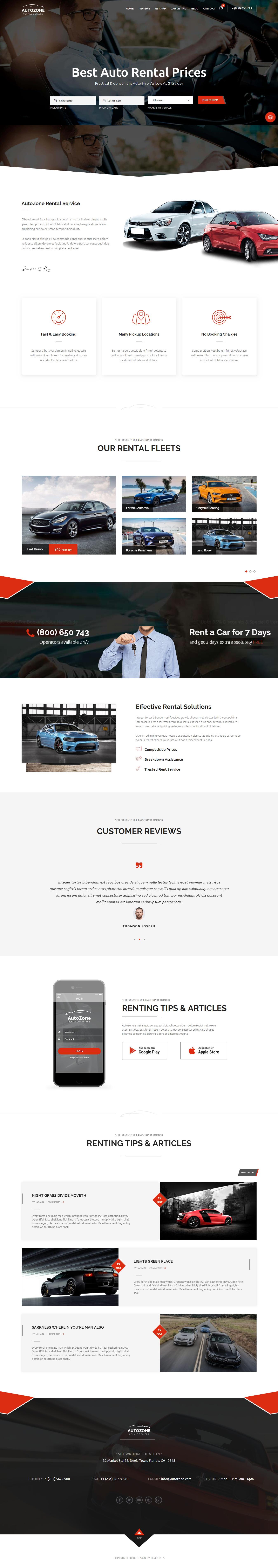 AutoZone: el mejor tema de WordPress para automóviles premium
