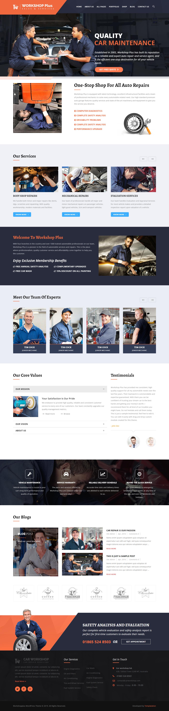 WorkshopPlus: el mejor tema de WordPress para automóviles premium