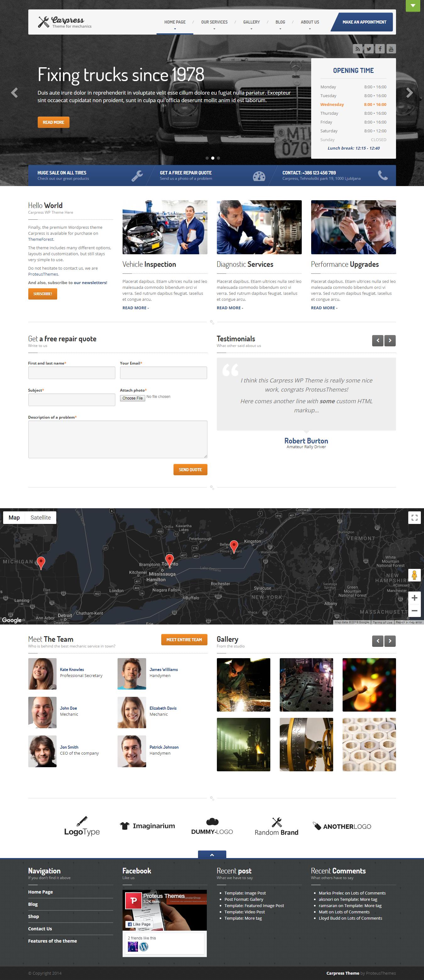 CarPress: el mejor tema de WordPress para automóviles premium