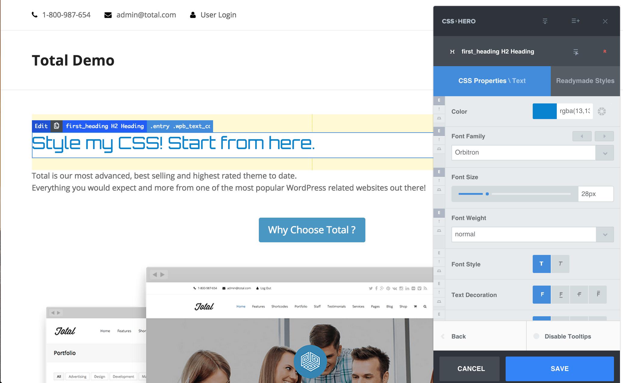 css-hero-personalización