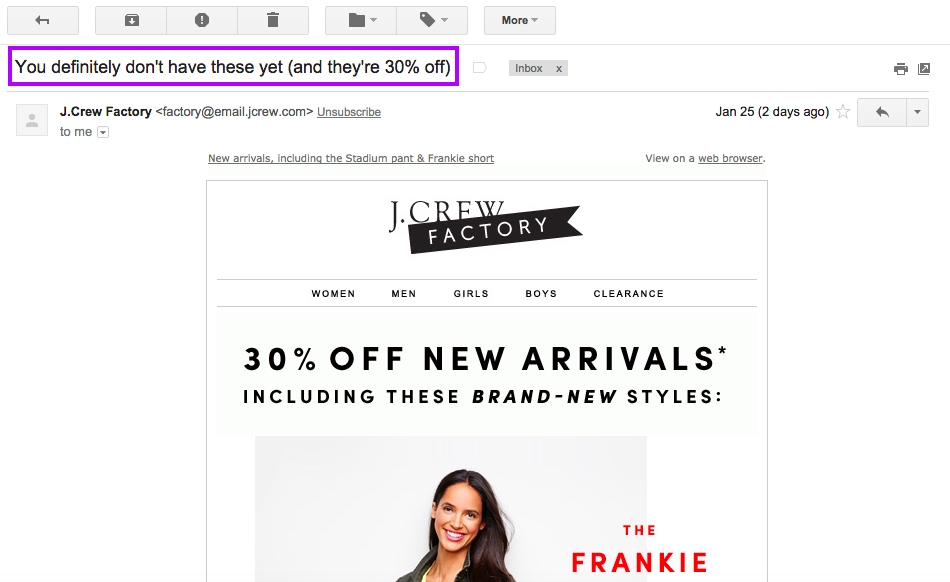 correo electrónico-asunto-línea-ejemplos-misterio-jcrew