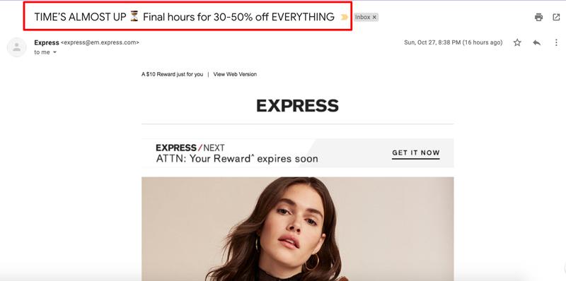 correo electrónico-asunto-línea-ejemplos-express