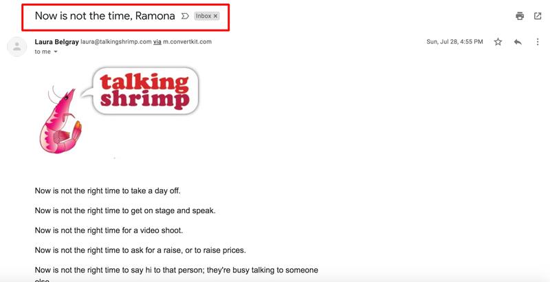 correo electrónico-asunto-línea-ejemplos-personalización