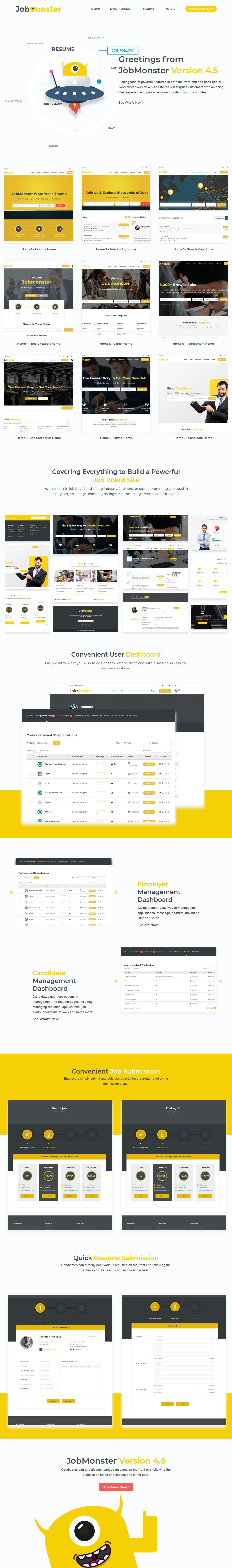 JobMonster Premium WordPress Tema de bolsa de trabajo