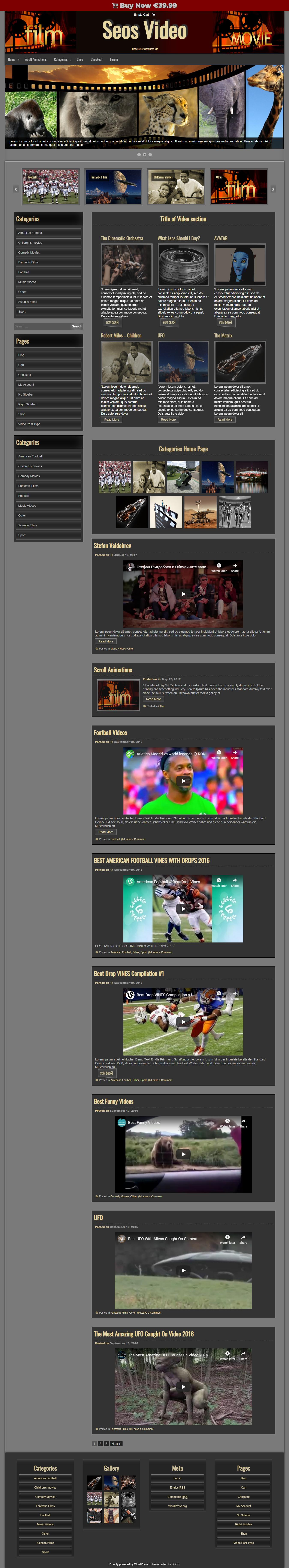 Seos Video: el mejor tema gratuito de WordPress para videos y música