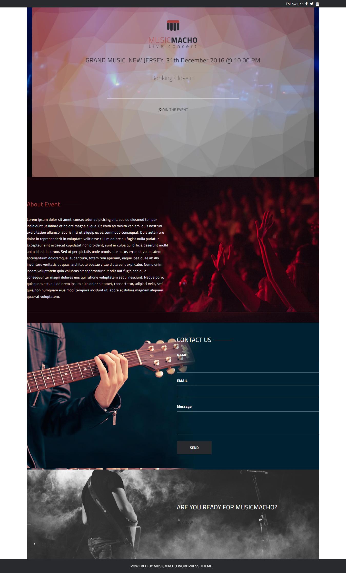 MusicMacho - Mejor tema gratuito de WordPress para videos y música