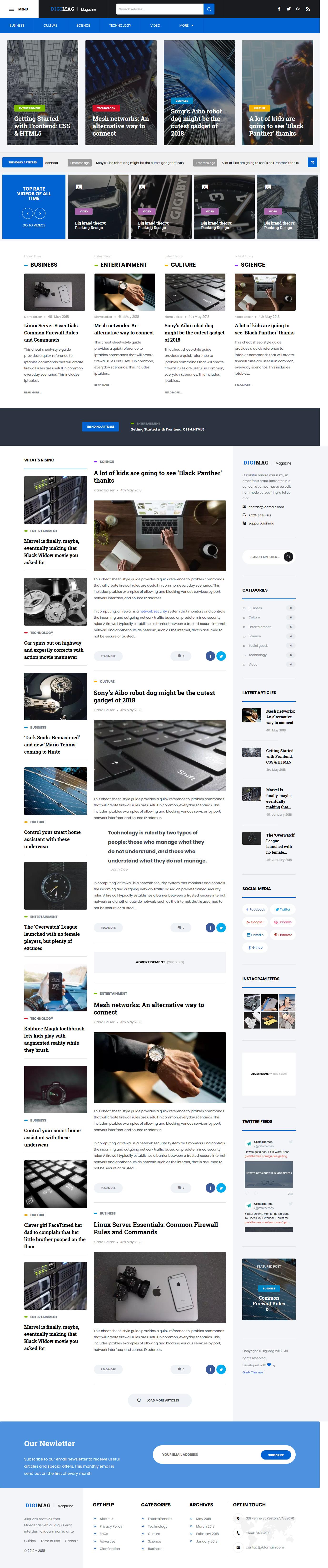Digimag: el mejor tema gratuito de WordPress para videos y música