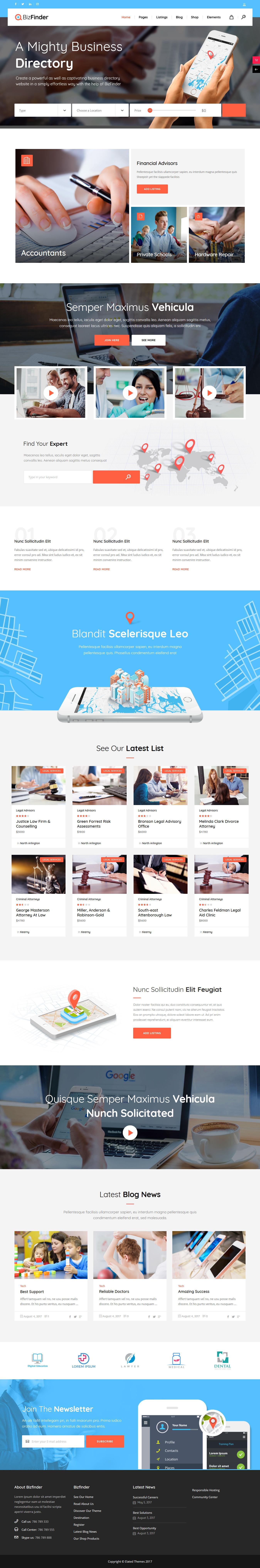 Bizzfinder: el mejor tema de WordPress clasificado premium