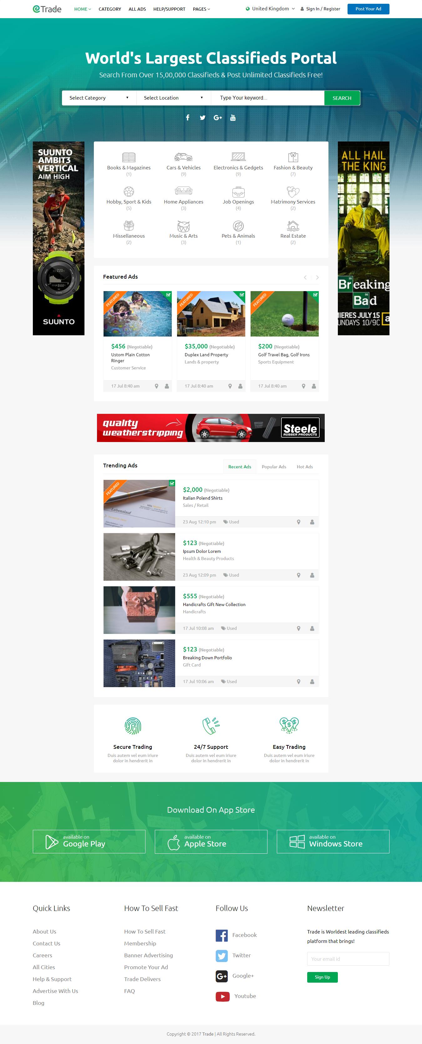 Comercio: el mejor tema de WordPress clasificado premium