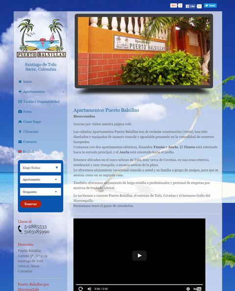 sitios web de hoteles, alquiler vacacional, reservas y reservas