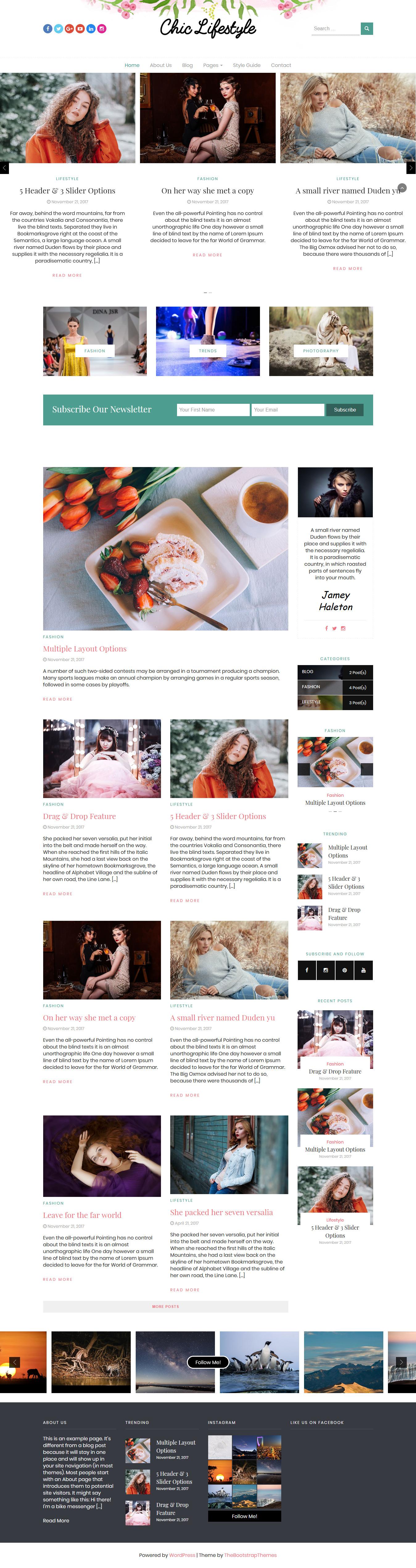 Estilo de vida elegante: el mejor tema de WordPress de estilo de vida gratuito