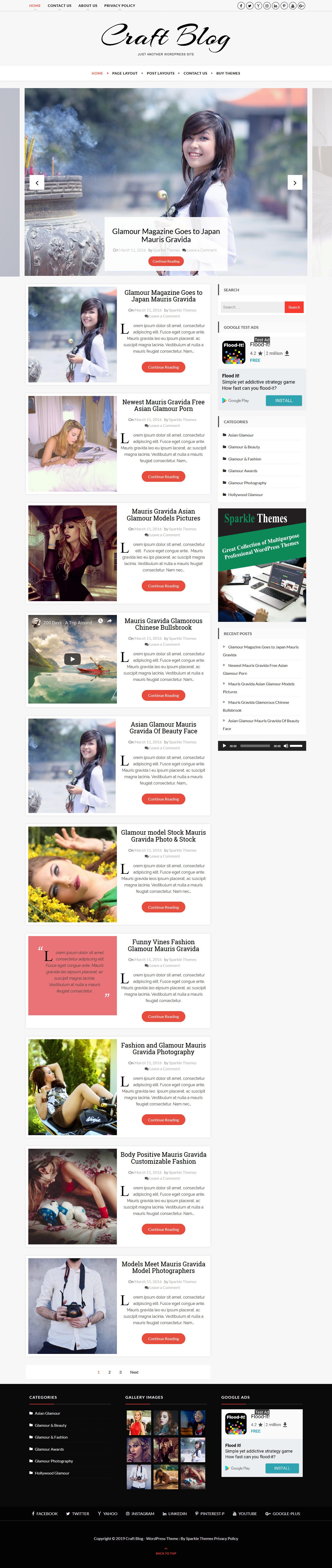 Craft Blog - El mejor tema de WordPress de estilo de vida gratuito
