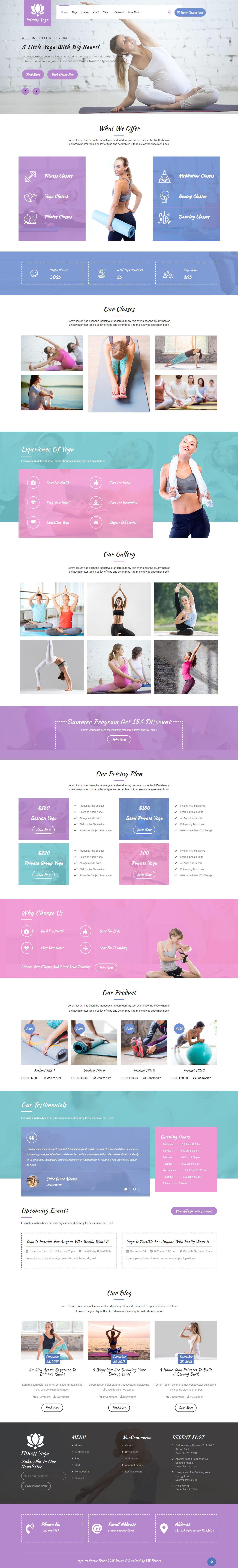 VW Yoga Fitness - El mejor tema de WordPress de estilo de vida gratuito