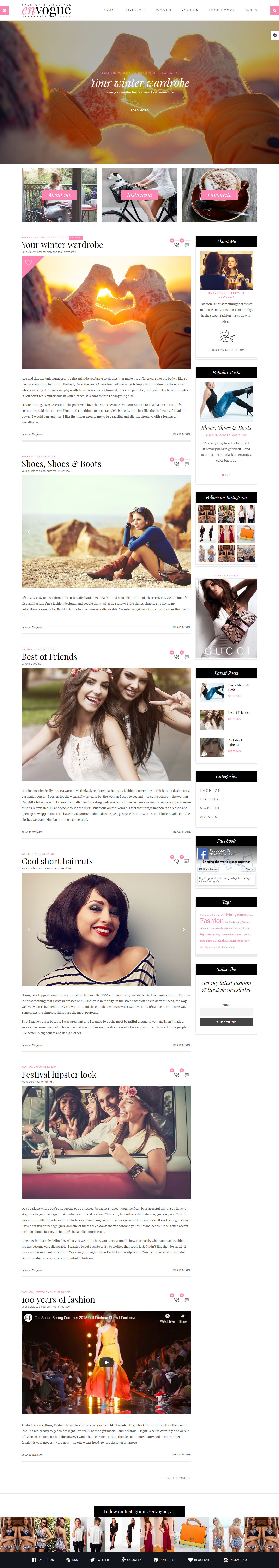 EnVogue: el mejor tema de WordPress de estilo de vida premium