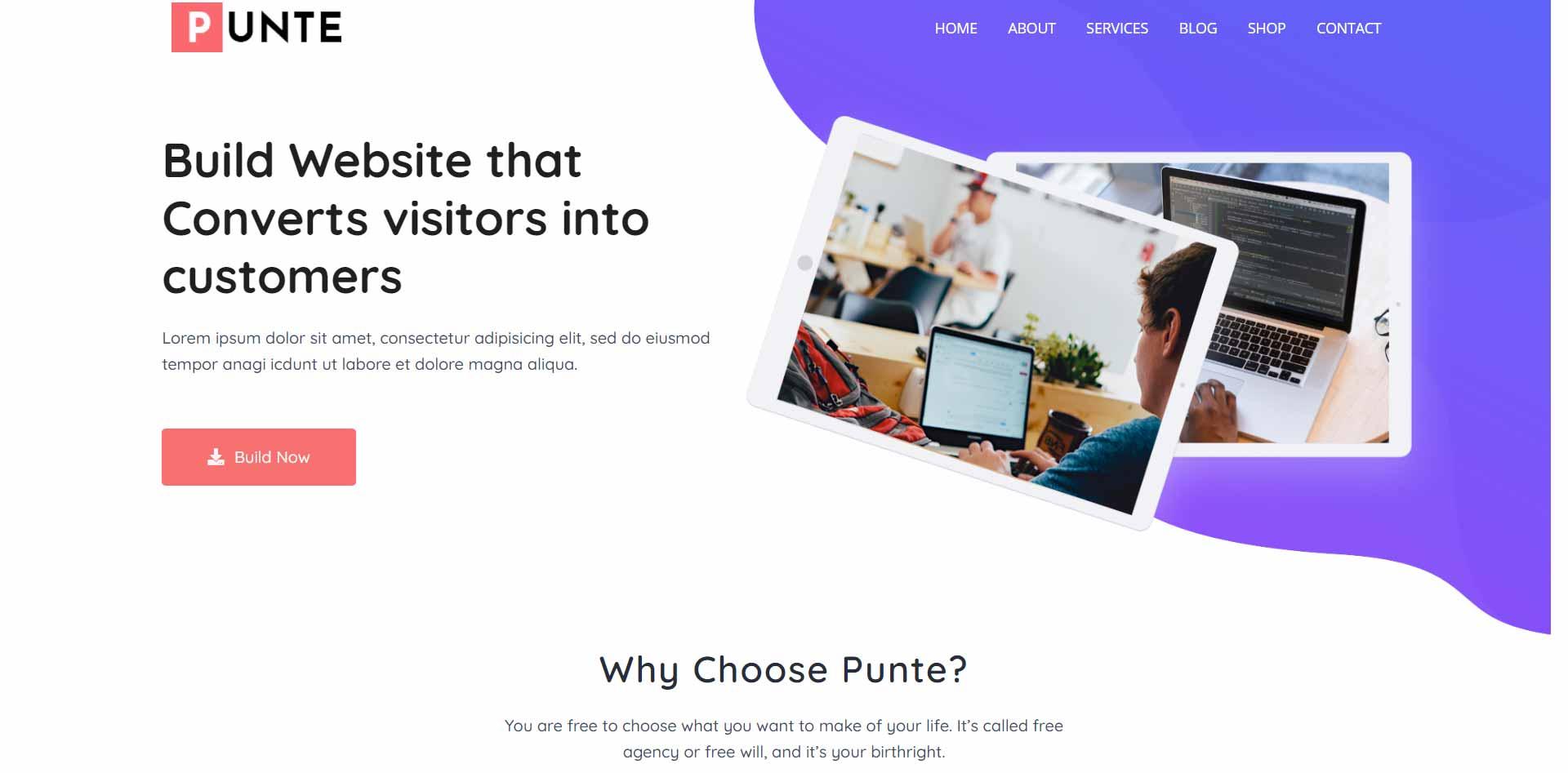 Sass-Punte-free-wordpress-theme