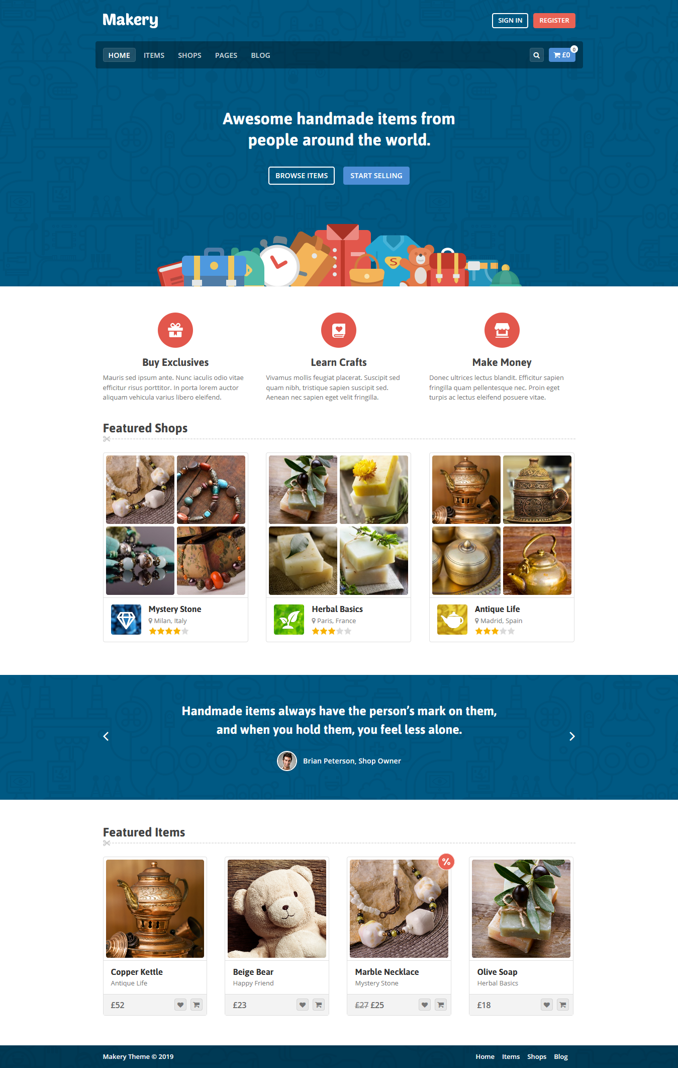 Makery - Mejor tema de WordPress de Marketplace Premium