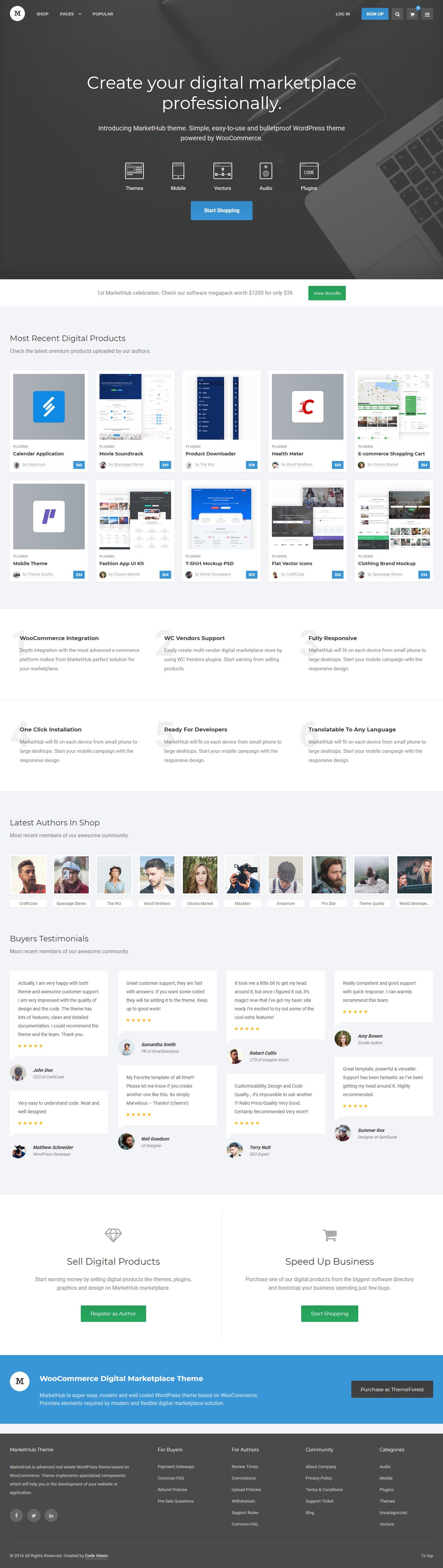 Markethub - Mejor tema de WordPress de Marketplace Premium