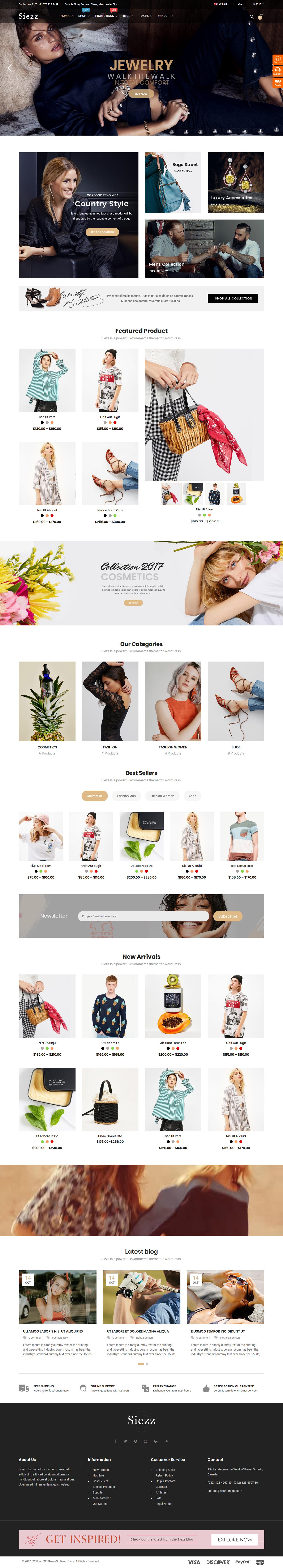 Siezz - Mejor tema de WordPress de Marketplace Premium