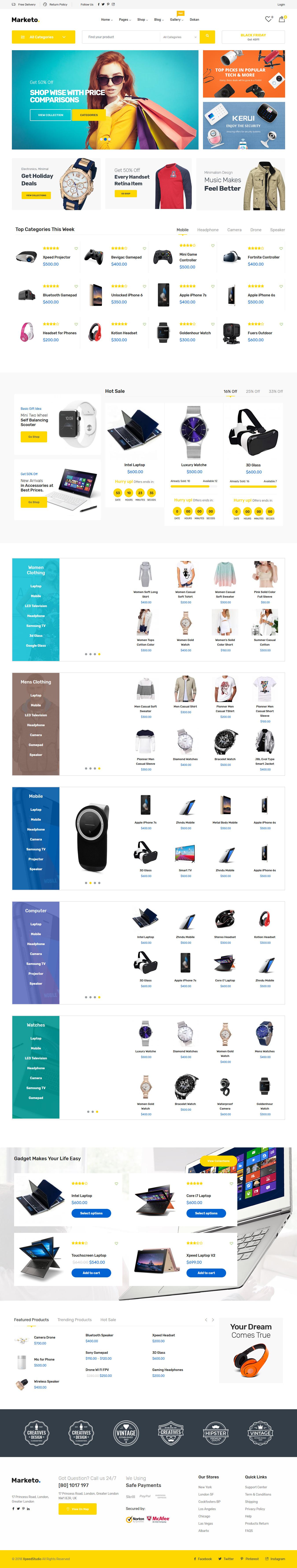 Marketo - Mejor tema de WordPress de Marketplace Premium