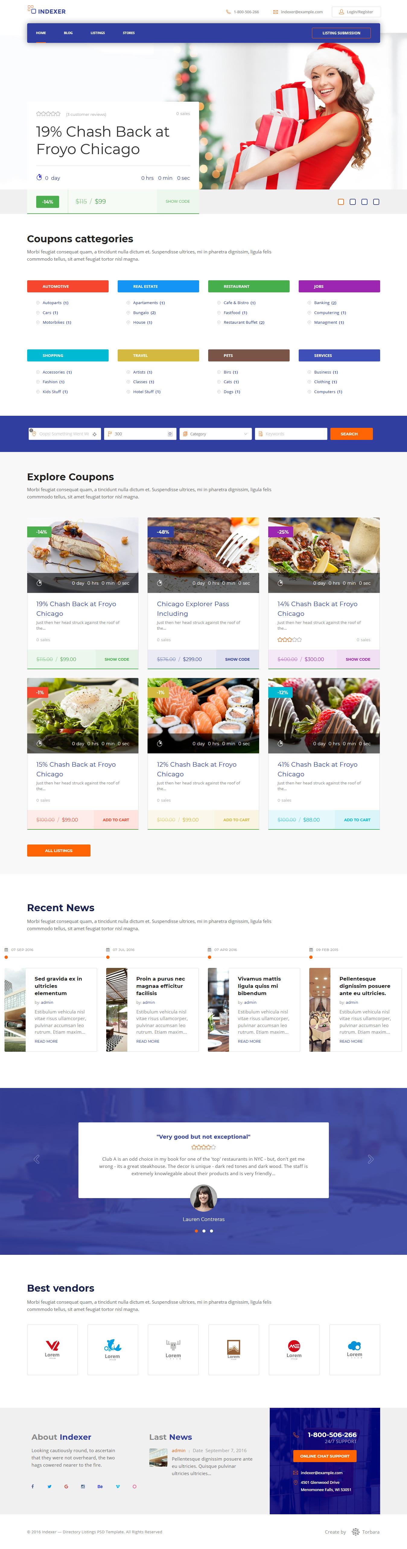 Indexador: el mejor tema de WordPress de Marketplace Premium