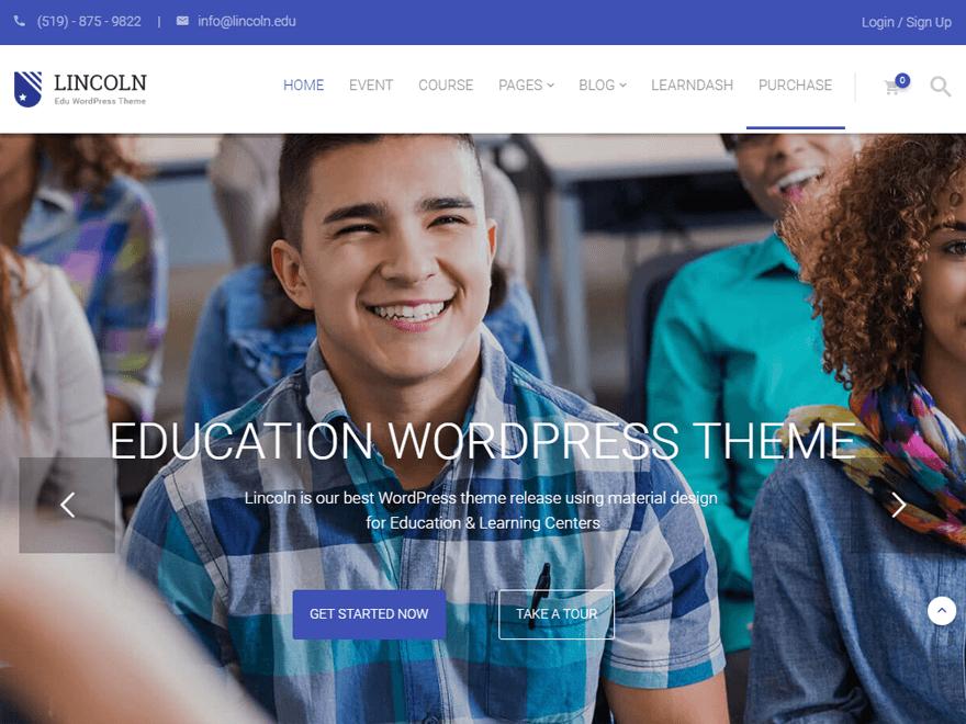 Lincoln-Best Premium Material Design Temas de WordPress 2018