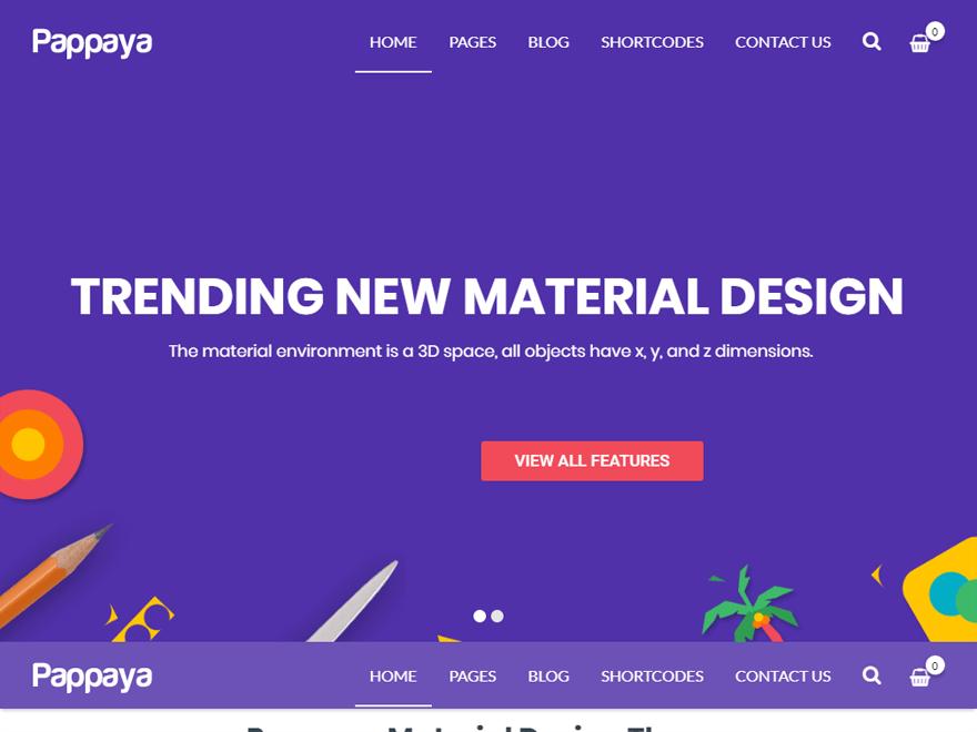 Pappaya-Best Premium Material Design Temas de WordPress 2018
